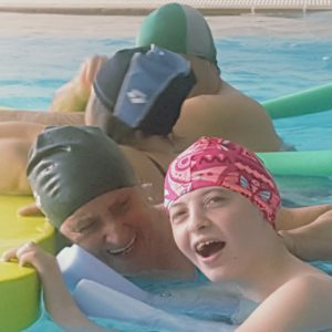 Sabrina in piscina