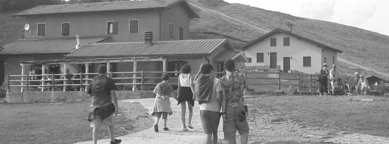 Foto di gruppo della Cooperativa Sociolario al Rifugio Venini